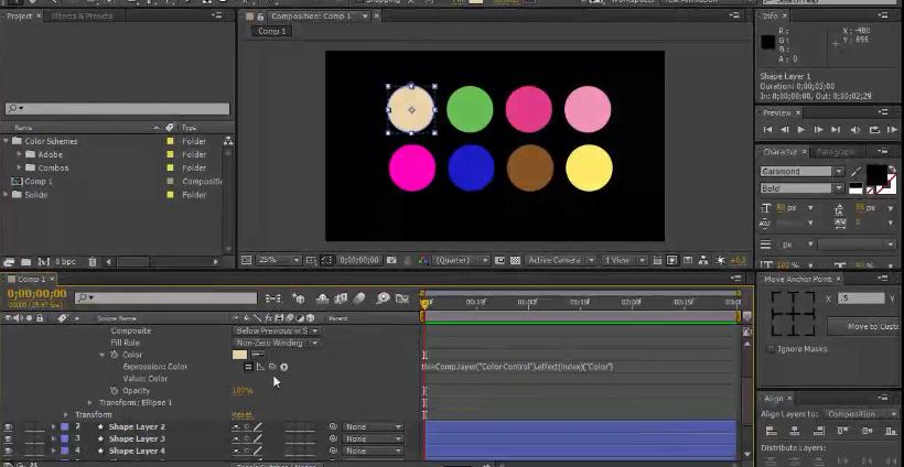 AE转场过渡动画技术训练视频学习教程