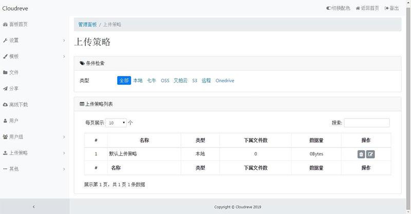 Cloudreve云盘网盘系统网站源码下载 带视频搭建教程,支持本地储存和对接各大对象 开始云上云储存之旅Thinkphp内核源码下载